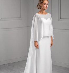 Fantastischer Brautmantel Stola aus Chiffon