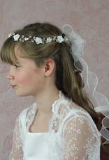 Brautkontor Kids Kommunion  Luxus Kommunionkleid Set mit 3D Blumen Spitze