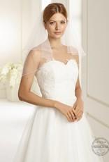 Marken Brautschleier weich fallend mit Strass und Perlen