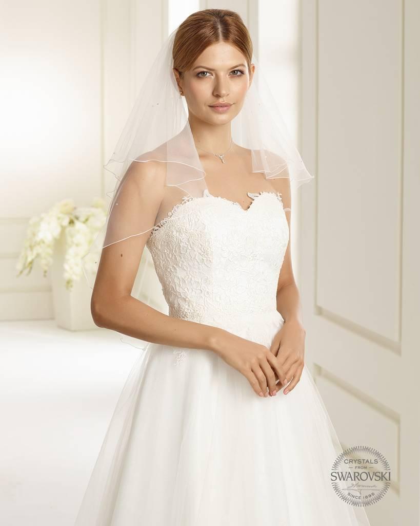 Marken Brautschleier mit Strass und Perlen