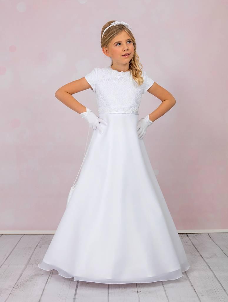 Brautkontor Kids Kommunion Kommunionkleid mit Spitze und Pailletten inkl. Bolero