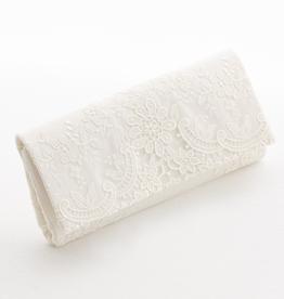 Vintage Clutch Hochzeit Brauttasche ivory creme