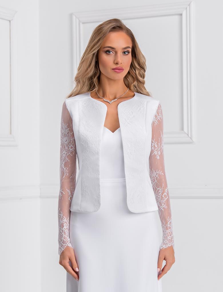 Raffinierter Bolero zum Brautkleid oder Standesamtkleid