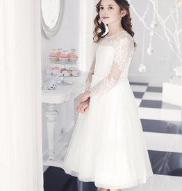 Vintage Kommunionkleid mit Spitze weiß