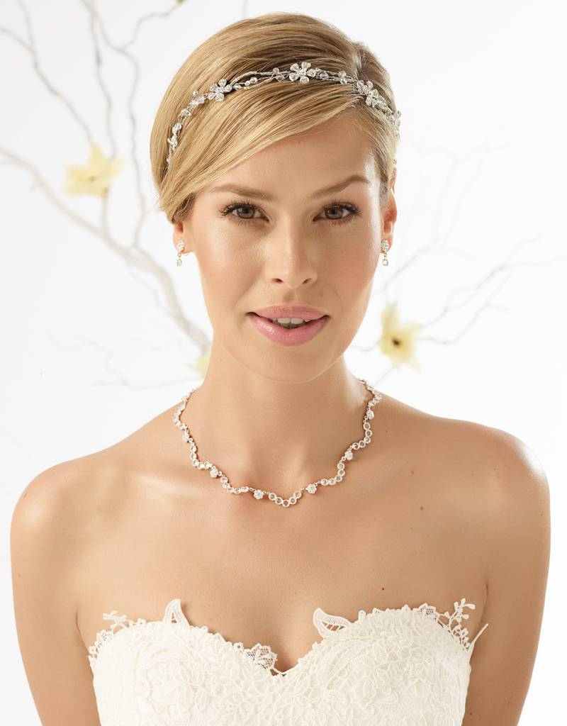 Wunderbar funkelnder Braut Haarschmuck