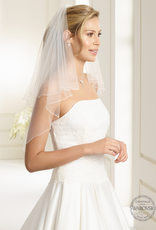 Funkelnder Brautschleier aus Softüll in weiß oder ivory