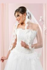 Brautschleier mit Spitzenrand aus Softtüll