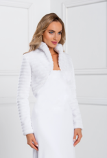 Exquisite warme Winter Brautjacke Bolero aus Fell
