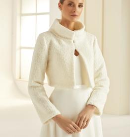 Warme Braut Bolerojacke mit Wolle in ivory