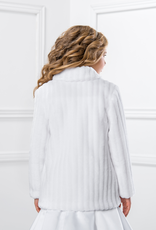 Warmer Mantel für Kommunionmädchen aus Fell