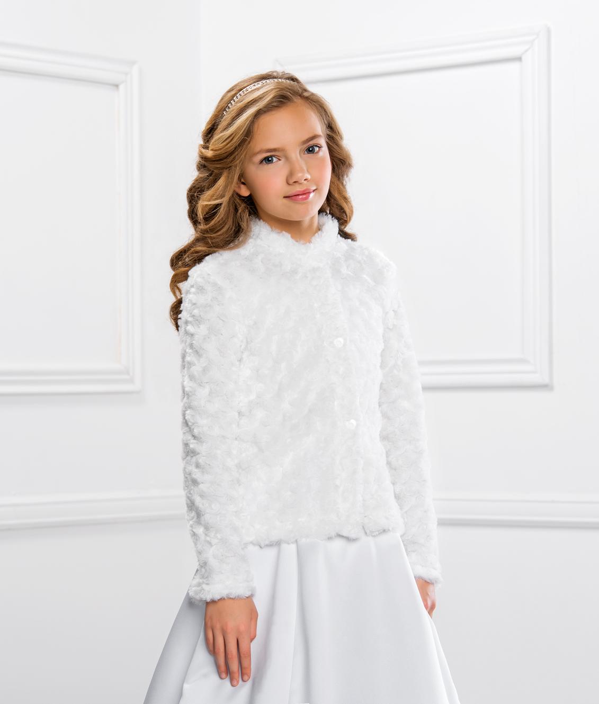 Schicke und warme Kommunionjacke Mantel für Mädchen