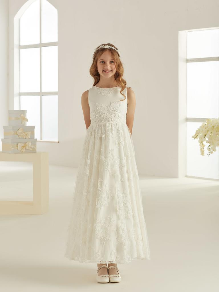Spitzen Kommunionskleid für Mädchen Marke Avalia in ivory creme