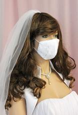 Braut Mundschutz Hochzeit Maske weiß oder ivory