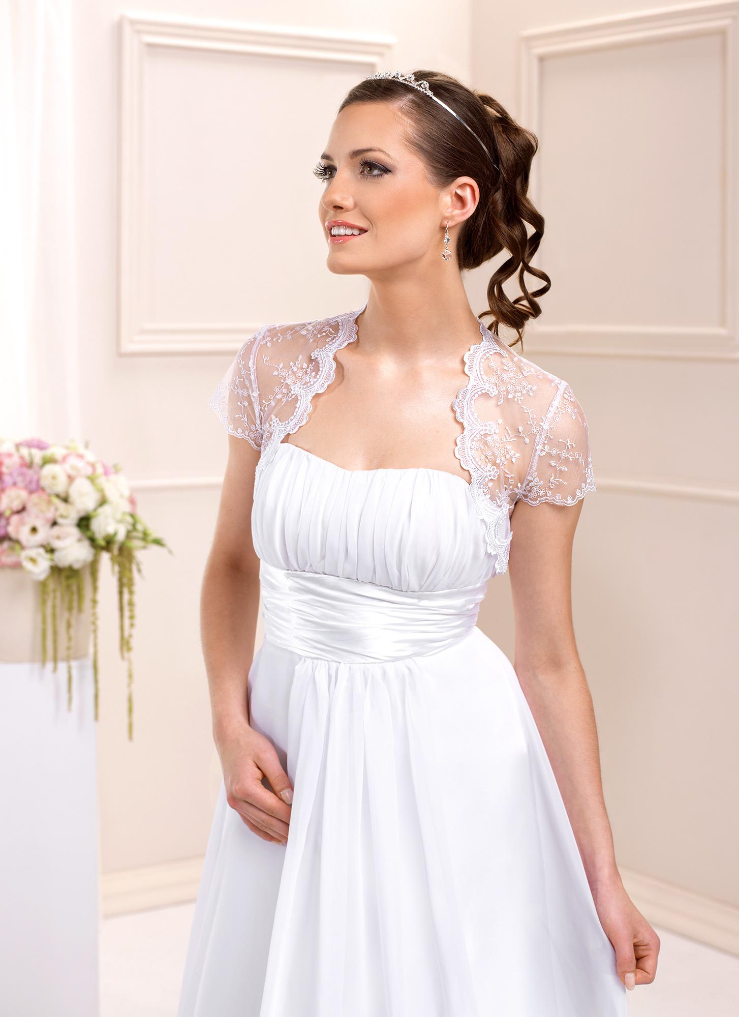 Spitzenbolero zum Brautkleid kurzarm