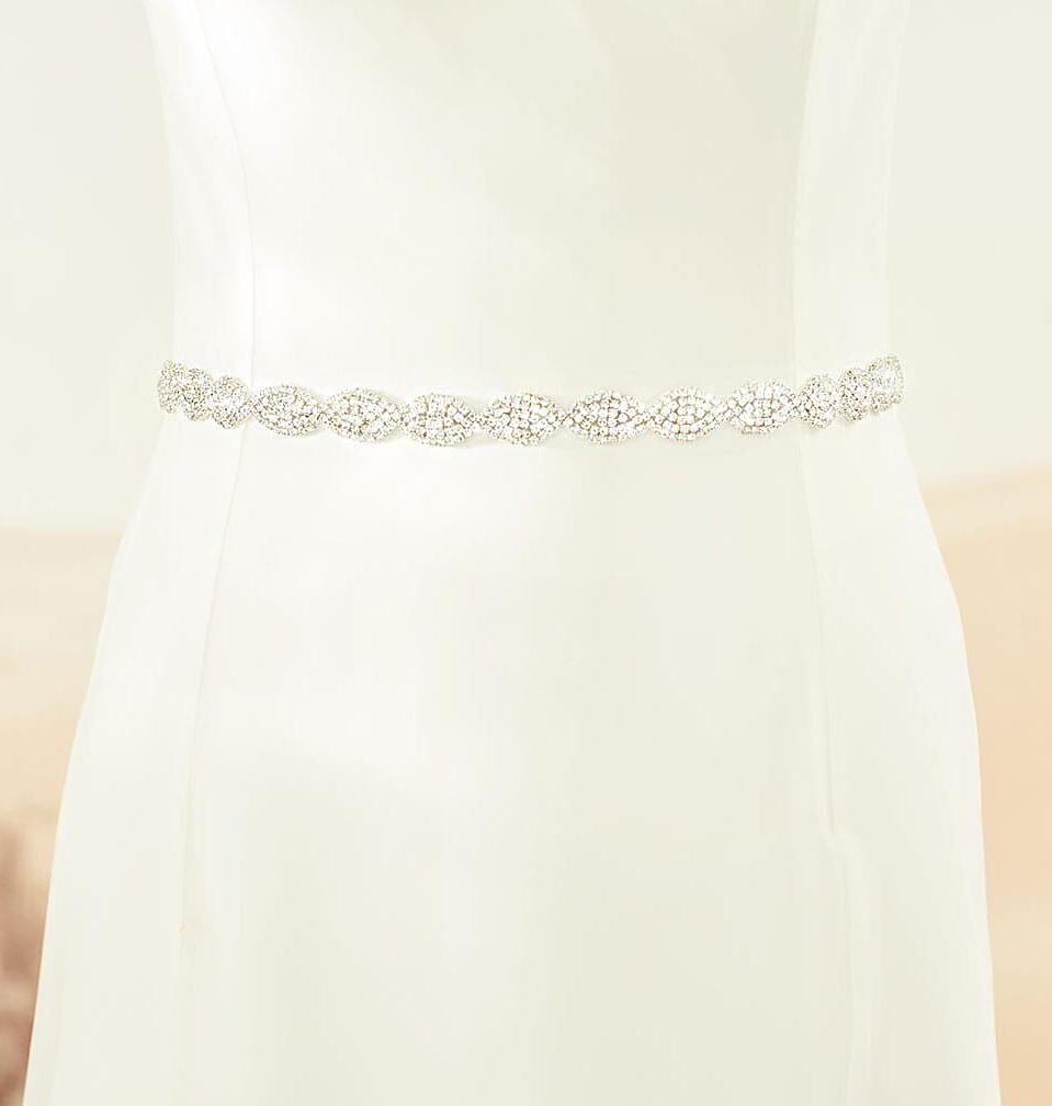 Brautgürtel mit Strass zum Brautkleid in ivory