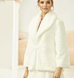 Brautjacke Fell Bolero Winter warm ivory