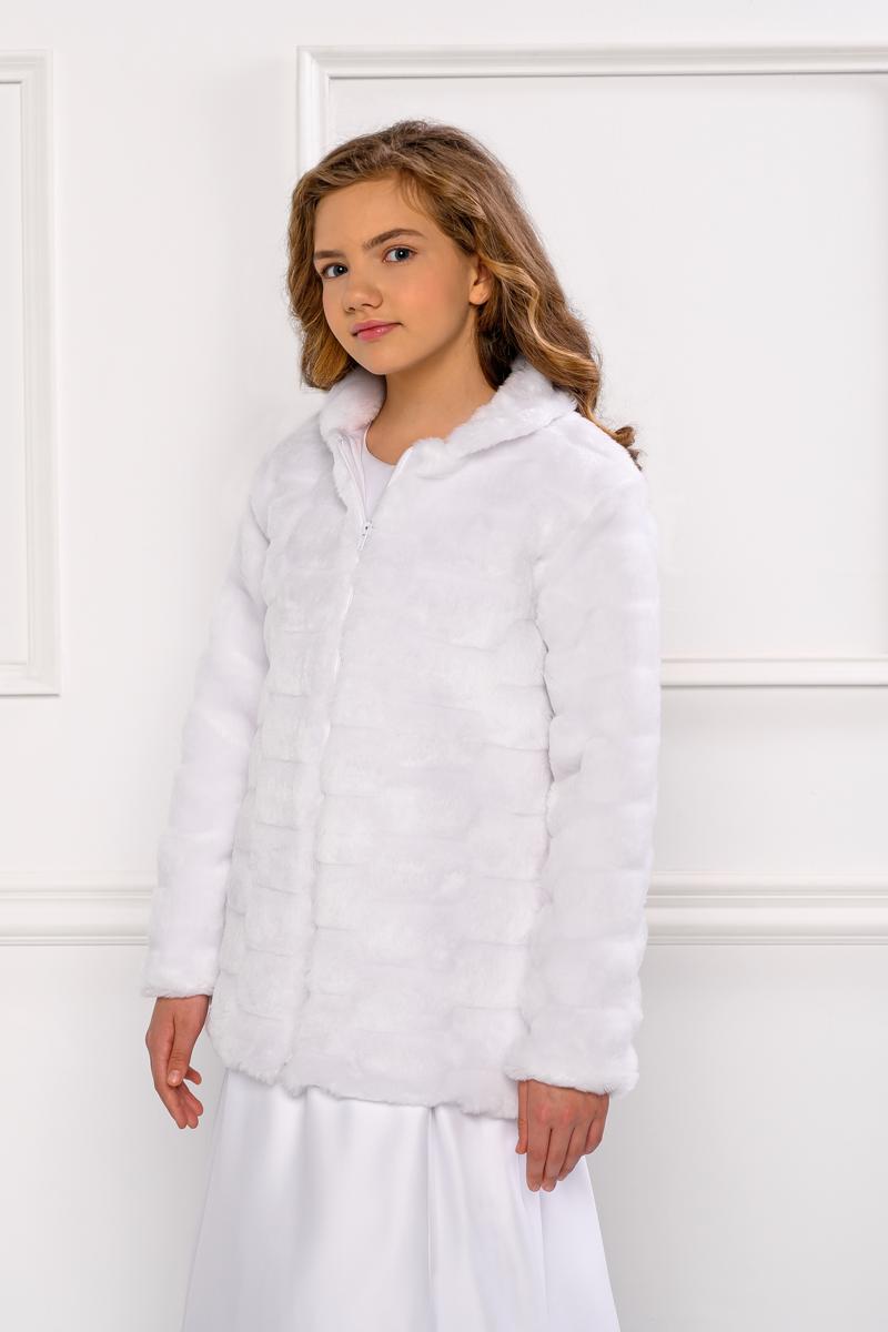 Warme Kommunionjacke Mantel für Mädchen