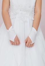 Brautkontor Kids Kommunion Kommunion Handschuhe für Mädchen