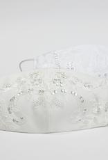 Kommunion Mundschutz Maske mit Spitze