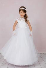Brautkontor Kids Kommunion LAURA- ein langes Kommunionkleid in ganz weiß