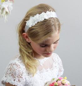 Haarband Kommunion mit Blumen