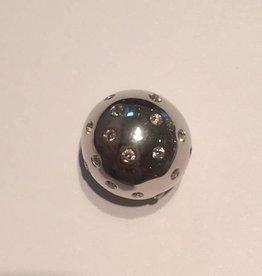 Sparkling Jewels Sparkling Jewels bal pave zilver 20mm uitverkocht