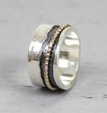 Jéh Jewels Jéh Jewels Ring 18692  zilver en gold filled