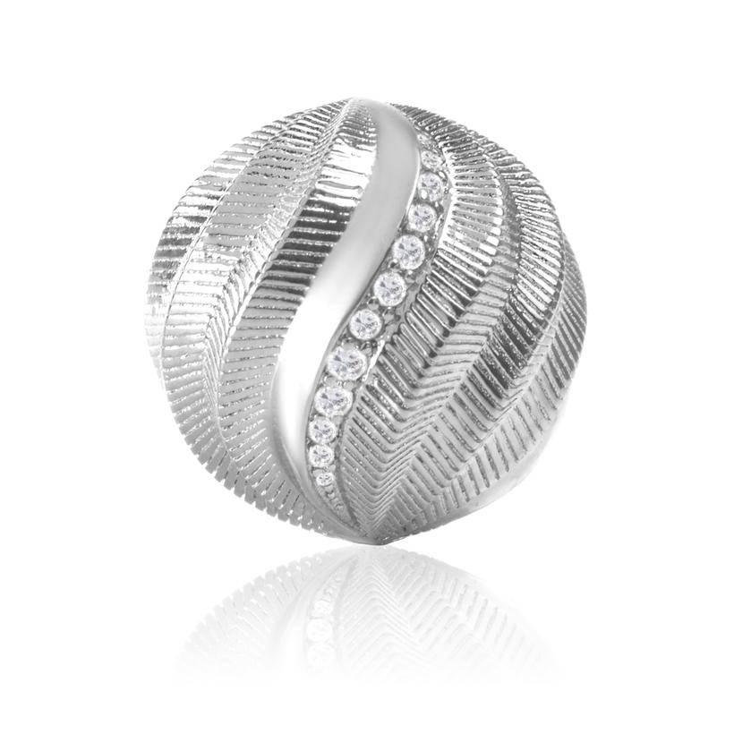 Sparkling Jewels Sparkling Jewels bal zilver gedraaid 14mm