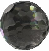 Melano Melano cateye bal zirkonia  transparant black facet