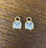 zinzi Zinzi oorbelhangers ZICH190 goud kristal
