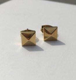 Melano Melano oorbellen gouden stud