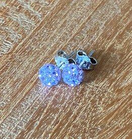 Karma oorbellen kristal Lavendel