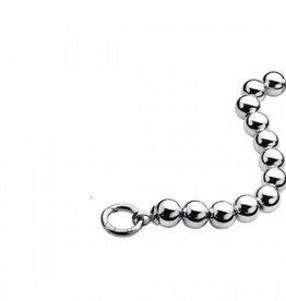 zinzi Zinzi ketting zilveren kraaltjes 4mm inclusief slot