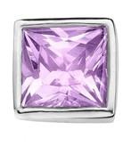 Enchanted Jewels enchanted jewels bedel zilver met paars zirkonia vierkant