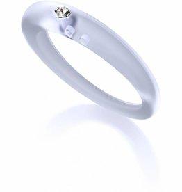 DuePunti ring transparant blauw