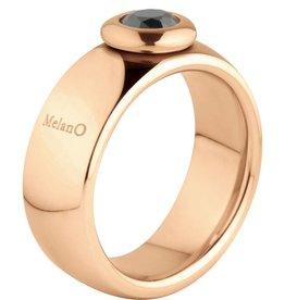 Melano Melano Vivid Vicky rose gouden stalen ring m01r9010RG 8mm