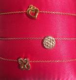 Imotionals Imotionals armband en enkel anker goud verguld