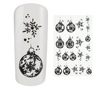 Water Decal Christmas Ball