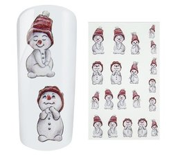 Water Decal Snowman