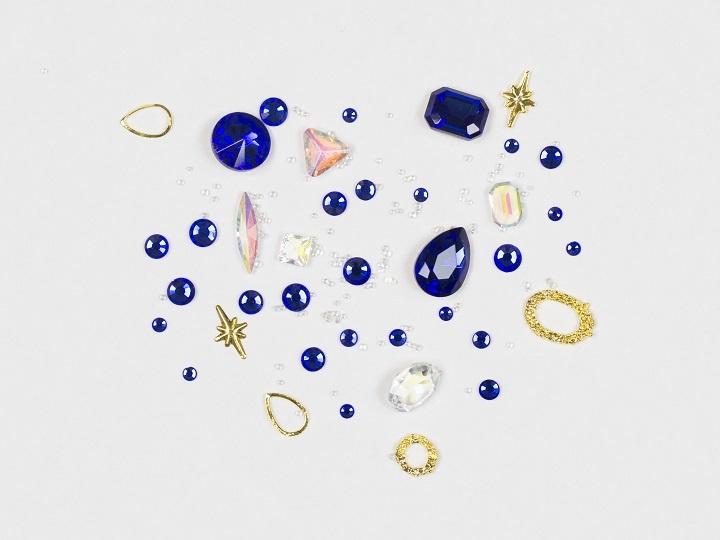 Netama's  Beauty Mixed Charms blue