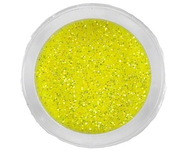 Glitterpoeder 3 gr Fluor Geel