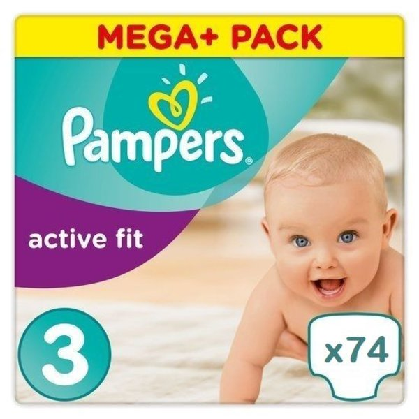 Pampers Pampers Active fit maat 3 - 74 luiers