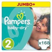 Pampers Pampers Baby Dry maat 2 - 168 luiers