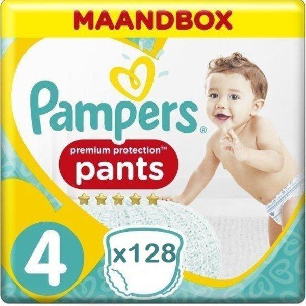 Pampers Pampers Premium Protection Pants Active fit Maat 4 Luierbroekjes 128 stuks