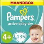 Pampers Pampers Active Baby Dry  Maat 4+ - 135 Luiers  Maandbox