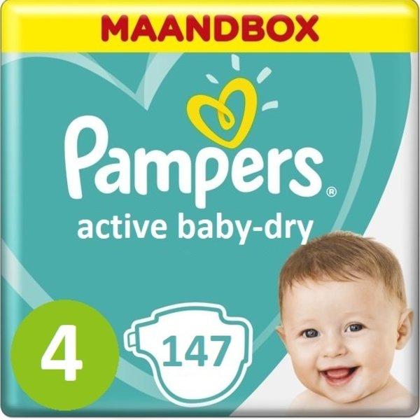 Pampers Pampers Active Baby Dry Maat 4 - 147 Stuks Maandbox