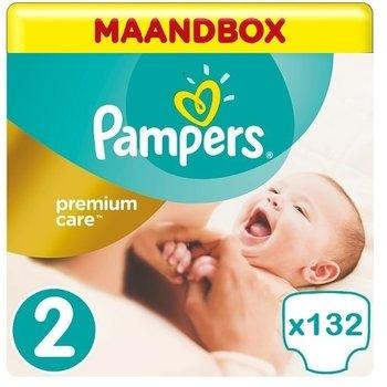 Pampers Premium Care Maat 2- 132 Luiers -  Maandbox