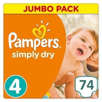 Pampers Simply Dry Maat 4 - 74 Luiers
