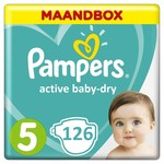 Pampers Pampers Active Baby Dry  Maat 5 - 126 Luiers Maandbox