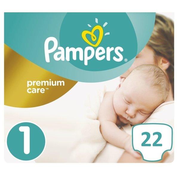 Pampers Pampers Premium Care Maat 1 - 22 Luiers